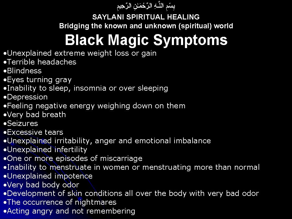 Black Magic - SAYLANI SPIRITUAL HEALING